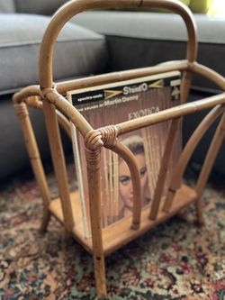 Tiki Mid Century Bamboo Rattan Magazine Rack for Sale in San Diego,  CA
