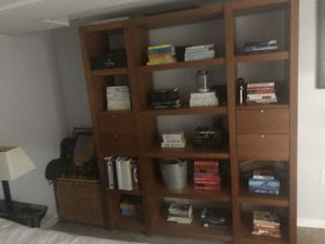 Mid Century office desk and bookcase set available in Ronkonkoma, son moving for Sale in Queens, NY