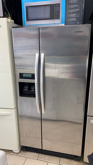 Kitchen aid side by side counter depth stainless steel refrigerator for Sale in Dearborn, MI