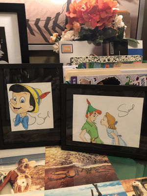 Disney Pinocchio and Peterpan Frames for Sale in Long Beach, CA
