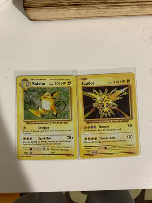 rare raichu and zapdos holo cards for Sale in Cupertino, CA