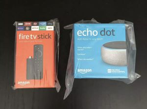 Bundle echo dot and fire tv stick for Sale in Tampa, FL