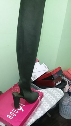 Thigh high boots peep toe for Sale in Washington, DC