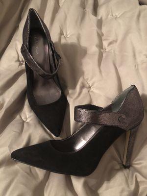 Calvin Klein black suede and metallic metal heel: Size 8 for Sale in Beaverton, OR