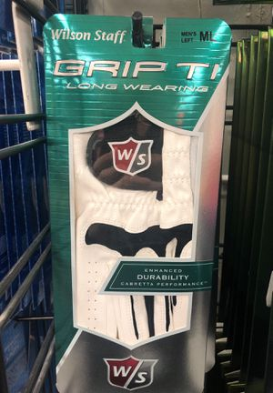 Two (2) Wilson grip TI Long Wearing Cabretta Performance Golf Glove Right Hans for Sale in Portland, OR