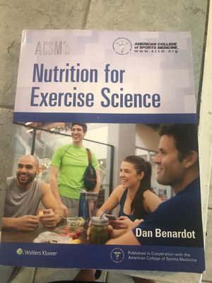 Nutrition for exercise science book for Sale in Goleta, CA