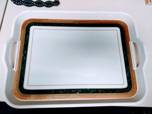White plastic kitchen food tray for Sale in Brooklyn, NY