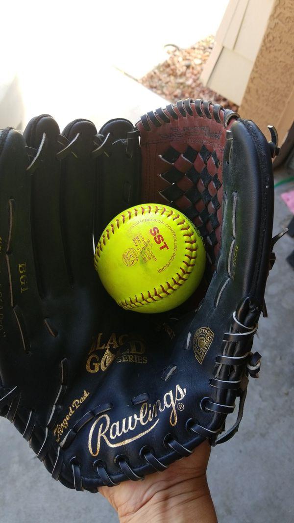 Rawlings leather 14 inch softball glove
