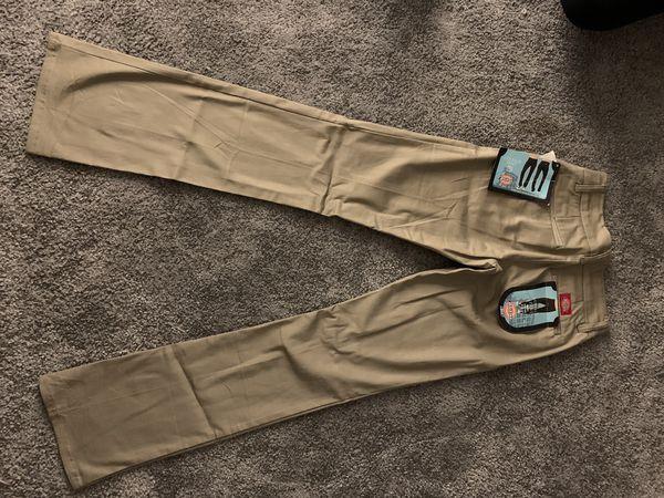Dickies khaki pants size 0 women brand new