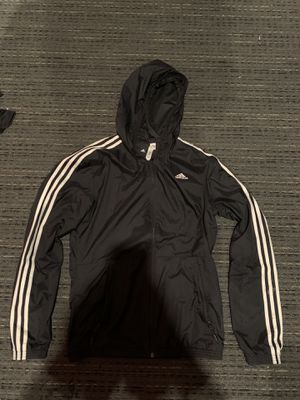 Men's Black Adidas Windbreaker Jacket Hoodie Size Small Supreme Nike for Sale in San Jose, CA