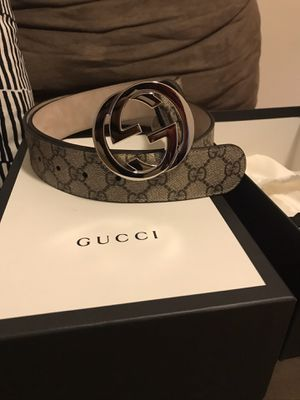 Men's Authentic Gucci Belt with all original bags and boxes for Sale in Boston, MA