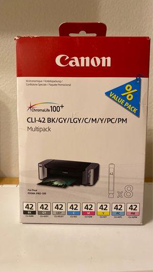 Genuine Canon CLI-42 Value Pack 8-Ink Set for Pixma Pro 100 for Sale in Burien, WA