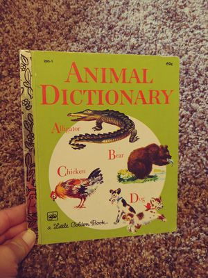 Vintage 1979 Little Golden Books. Animal Dictionary for Sale in Houston, TX