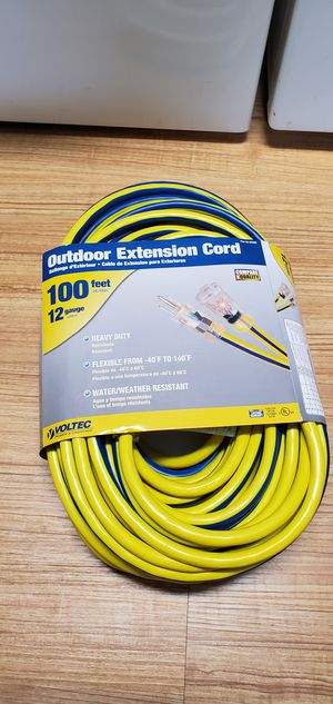 Heavy Duty Electrical Power Cord for Generators 100 ft for Sale in Plantation, FL