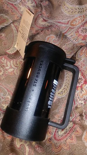Limited STARBUCKS 8-Cup Press by BODUM BRAND NEW WITH TAG & COFFEE SCOOP BLACK Never Opened for Sale in Weirton, WV