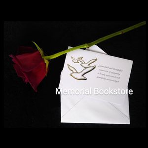(25) Classic Dove Funeral Thank You/ Acknowledgement Cards for Sale in Palm Harbor, FL