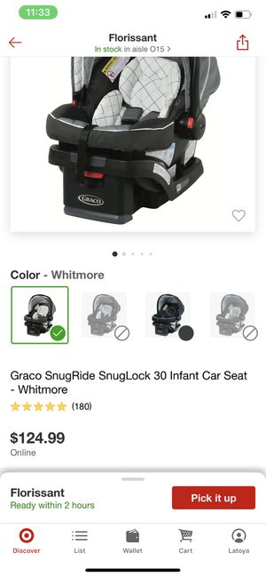 Graco whitmore double stroller and car seat with base for Sale in Florissant, MO