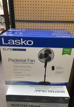 Pedestal Fan with Remote Oscillation and Thermostat for Sale in Los Angeles, CA