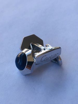 Used Cartier Silver Coated Cufflinks With Blue Stone for Sale in Los Angeles, CA