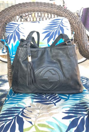 Gently Used Gucci Soft Black Pebble Leather Large SOHO Shoulder Bag *MUST SELL MAKE OFFER* for Sale in San Diego, CA