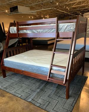 Twin over Full Bunk Bed & Mattress for Sale in Mesquite, TX