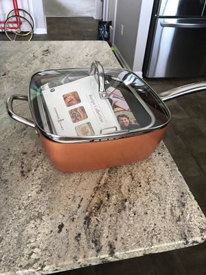 """opper Chef XL 11"""" Square Pan with 4-Piece Cooking System & Recipes for Sale in Brownstown Charter Township, MI"""