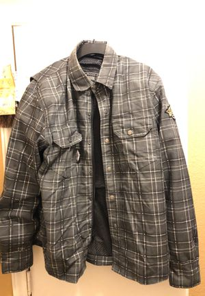 Motorcycle riding flannel jacket for Sale in Austin, TX