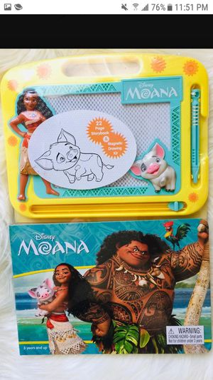 MOANA STORYBOOK & MAGNETIC DRAWING BOARD $15 ✔✔✔PRICE IS FIRM✔✔✔ for Sale in Bell Gardens, CA