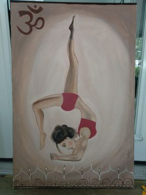 Yoga poses large painting for Sale in Gulfport, FL