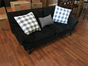 Black memory foam futon for Sale in Fresno, CA