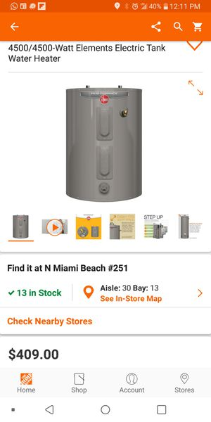 Brand new hot water heater in the Box for Sale in Royal Palm Beach, FL