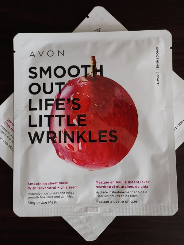 Avon Smooth Out Life's Little Wrinkles Smoothing Sheet Mask