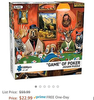 "Brand New 1000 piece puzzle ""Game of Poker"" jigsaw puzzle for Sale in Garden Grove, CA"