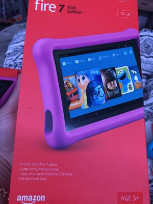 16Gb Amazon Fire 7 kid's edition tablets all 4for 225 for Sale in Dublin, OH