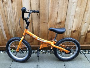 Glide Bikes GG16-O Go Glider Balance Bike, Orange for Sale in Lynnwood, WA