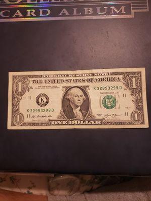 2013 dollar bill k32993299 serie for Sale in Los Angeles, CA