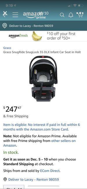 Graco snugride snuglock 35 car seat click connect for Sale in Renton, WA