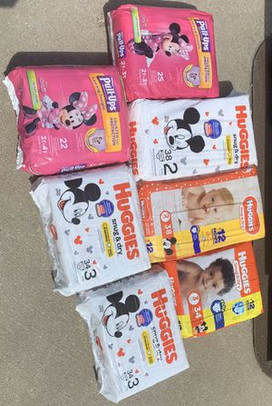 $6 per pack...Huggies Diapers & Pull ups * FREE Delivery for Sale in Saint Charles, MO
