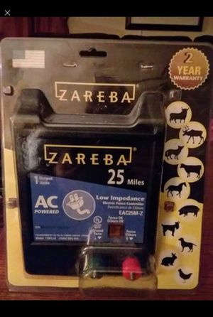 Zareba 25 miles low impedance electric fence controller for Sale in Cumberland, VA