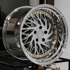 18x9.5 or 10.5 new chrome derp lip rims set 5x114.3 for Sale in Hayward, CA