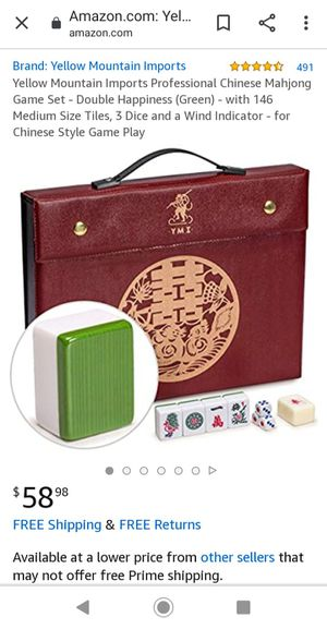Mahjong (Brand New) selling for $40.00 or best offer for Sale in Mountain View, CA