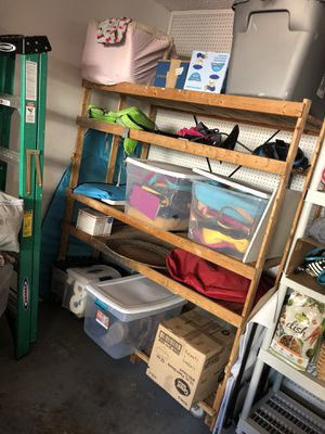 Large Wooden Storage Shelves with Wheels!! for Sale in San Antonio, TX
