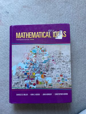 Mathematical ideas 13th edition - college math book for pre Calc I think for Sale in Kennewick, WA