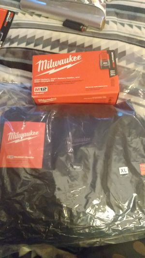 Milwaukee heated hoodie and battery and charger for Sale in Portland, OR
