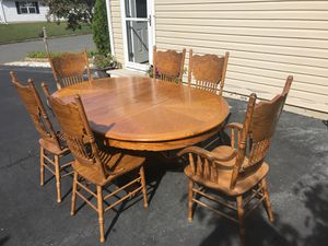 Dining Table, Chairs, China Closet for Sale in Eatontown, NJ