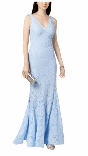 Formal Dress Size 12 Mermaid Style Lace Light Blue NEW Prom Bridesmaid Special Occasion for Sale in Burbank, IL