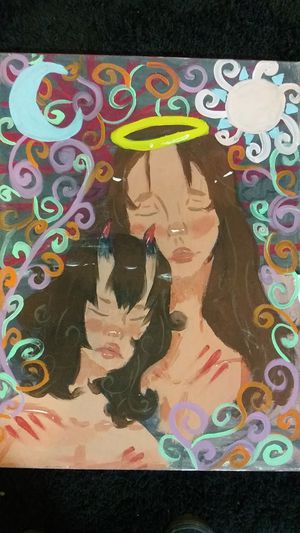 Painting (sisters of hell and heaven for Sale in Cicero, IL