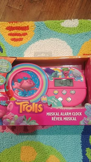 Trolls musical alarm clock for Sale in West Covina, CA