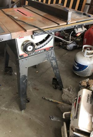 Craftsman table saw with guards and guides. for Sale in Renton, WA