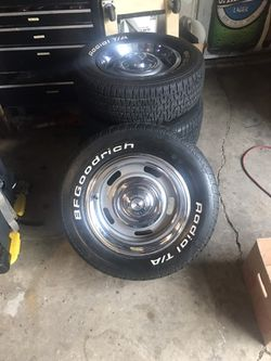 Chevy Rally wheels and 2 front tires 4rims 14 for Sale in Lombard,  IL